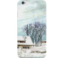 Cottage In The Black Forest In Germany Blue iPhone Case/Skin