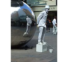 Statue in Motion Photographic Print
