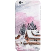 Cottage In The Black Forest In Germany Pink iPhone Case/Skin