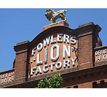 """Fowler's """"Lion"""" Factory Photographic Print"""