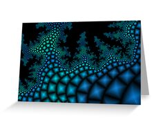 Glowing Coral Stairs Greeting Card