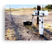 mailboxes, route 66, amboy, california Canvas Print