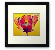 Red and Yellow Flame Framed Print
