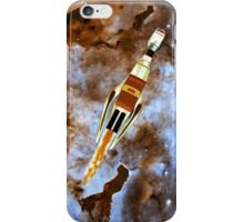 Two Galactic Cruiser/Fighters at NGC 3372 - all products iPhone Case/Skin