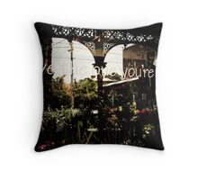 Love the one you're with..... Throw Pillow