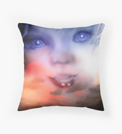 Daughter of the Skies Throw Pillow