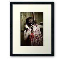 Red Ribbon... Framed Print