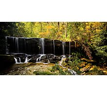 Autumn Fall - Somersby Falls Photographic Print