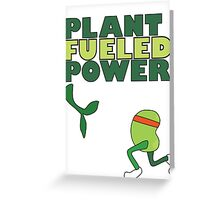 Runner Bean - Plant Fueled Power Greeting Card