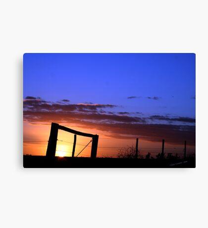 Caged Sunset Canvas Print