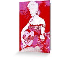 Marilyn Plays Guitar Greeting Card