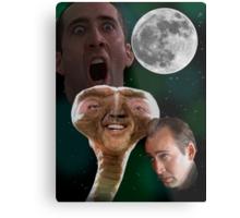 "Nicolas Cage - ""Wolf Shirt"" Metal Print"