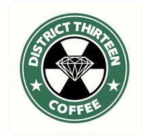 Starbucks District Thirteen Hunger Games Art Print