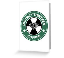 Starbucks District Thirteen Hunger Games Greeting Card