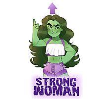 She-Hulk- Strong Woman Photographic Print