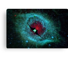 Venetian Interstellar Cruiser with Escorts at the Helix Nebula - all products Canvas Print