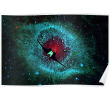 Venetian Interstellar Cruiser with Escorts at the Helix Nebula - all products Poster