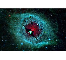 Venetian Interstellar Cruiser with Escorts at the Helix Nebula - all products Photographic Print