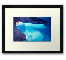 Greece. Ionian Islands. Zakynthos. The shipwreck at St George Bay. Framed Print