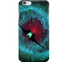 Venetian Interstellar Cruiser with Escorts at the Helix Nebula - all products iPhone Case/Skin