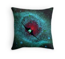 Venetian Interstellar Cruiser with Escorts at the Helix Nebula - all products Throw Pillow