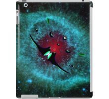 Venetian Interstellar Cruiser with Escorts at the Helix Nebula - all products iPad Case/Skin