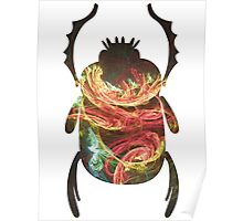 Inner Chi Represented in Color | Egyptian Scarab Beetles  Poster