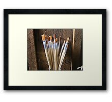 Painter's Brushes Framed Print