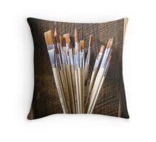 Painter's Brushes Throw Pillow