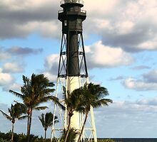 Hillsboro Inlet Lighthouse, Pompano Beach, Florida by Roupen  Baker