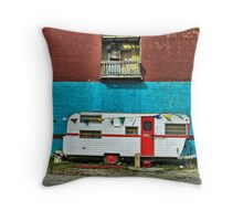 Happy Campers Throw Pillow