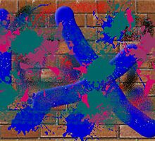 (SNAKE ON A PLANE ) ERIC WHITEMAN  ART  by eric  whiteman