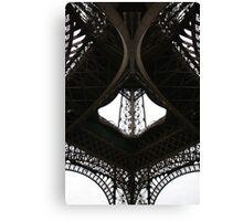 Au-dessous de la Tour Eiffel Canvas Print