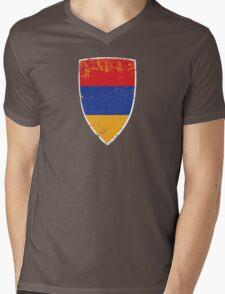 Flag of Armenia Mens V-Neck T-Shirt