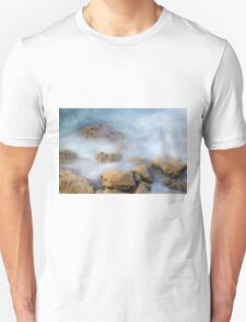 misty water spray and rocks T-Shirt
