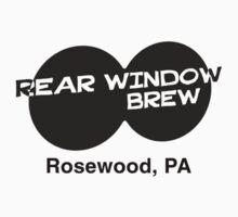 Rear Window Brew (Rosewood, PA) black T-Shirt