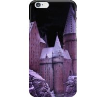 Hogwarts castle with winter snow iPhone Case/Skin