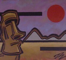 EASTER ISLAND SUNSET by PETER JANUS