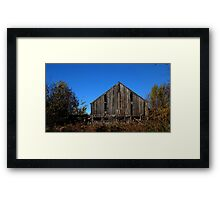 0127 - HDR Panorama - Old Barn 2 Framed Print