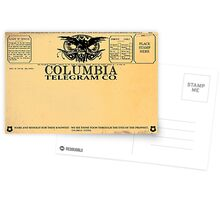 Columbia Telegram BioShock Postcards
