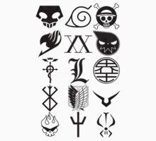 Anime Logos Black by Yari27