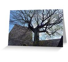 tree among the ruins Greeting Card