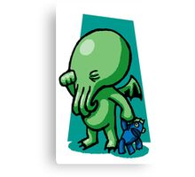 Sleepytime Cthulhu Canvas Print