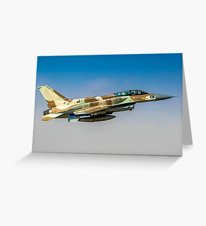 Israeli Air Force (IAF) F-16I Fighter jet in flight Greeting Card