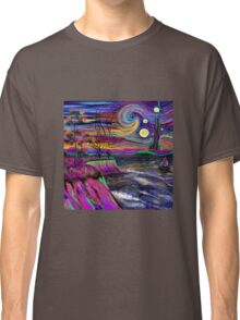 Psychedelic landscape Classic T-Shirt