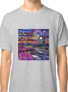 Psychedelic landscape Classic T-Shirt