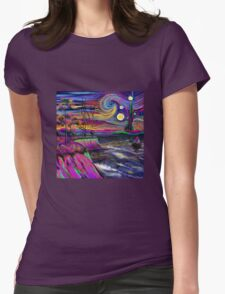 Psychedelic landscape Womens Fitted T-Shirt