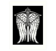 Angel Wings and Crossbow (Clean) Art Print