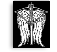 Angel Wings and Crossbow (Clean) Canvas Print