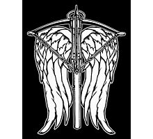 Angel Wings and Crossbow (Clean) Photographic Print